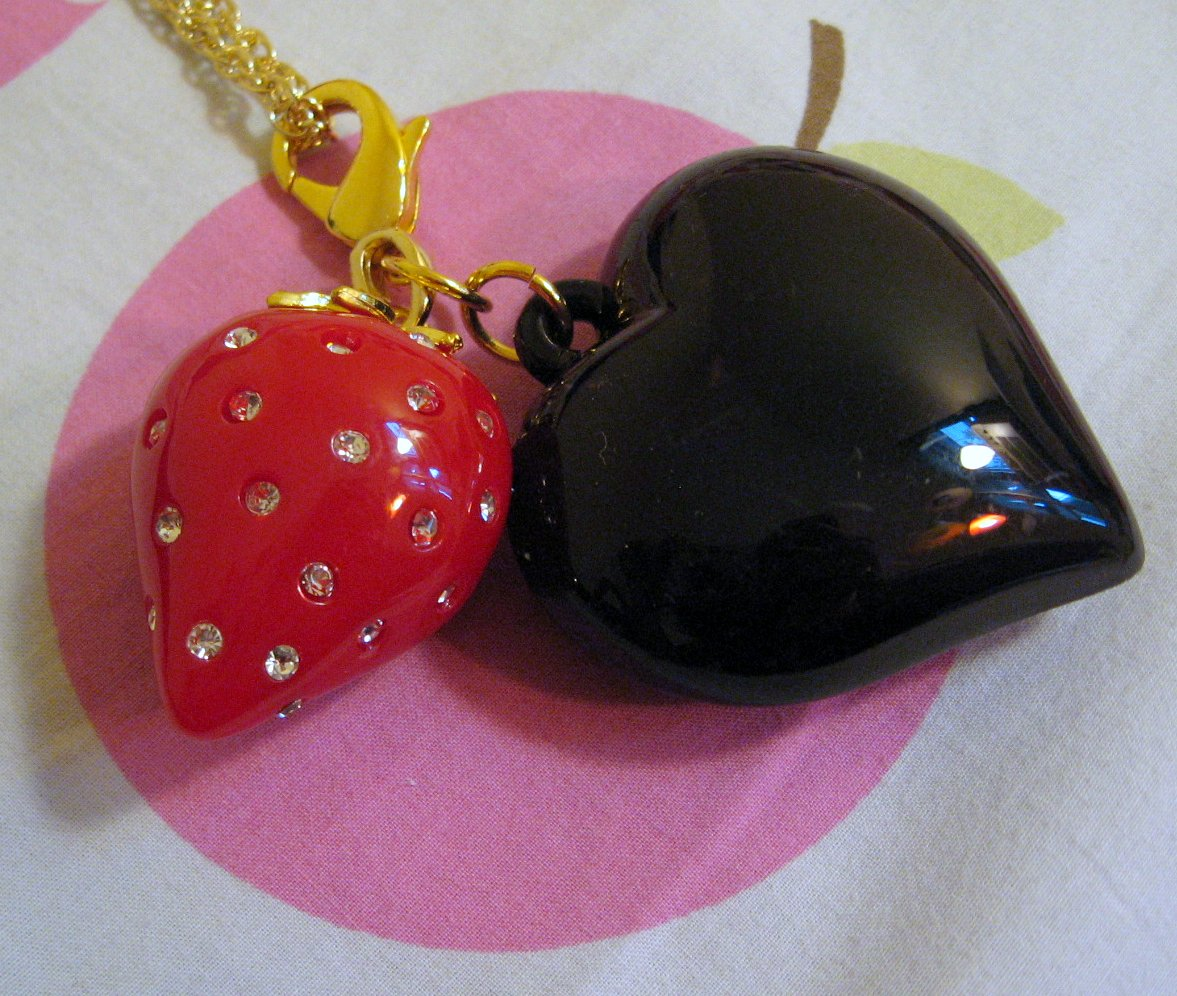 Black Peace Now strawberry necklace