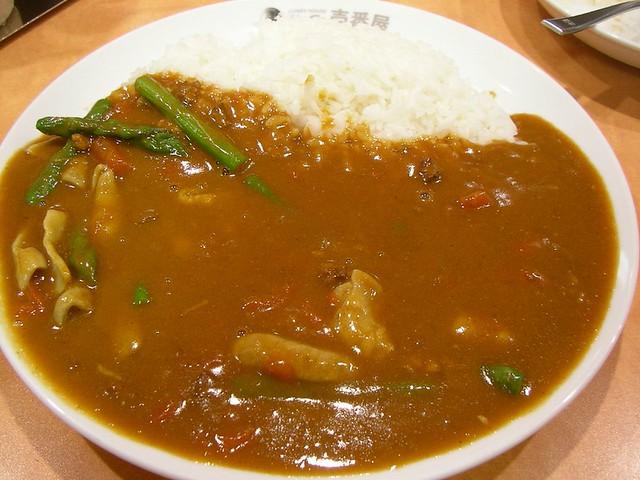 Curry rice @ CoCoIchi 牛もつ+トマトアスパラカレー(CoCo壱番屋)