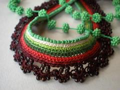 Hedera  Freeform Crochet Necklace