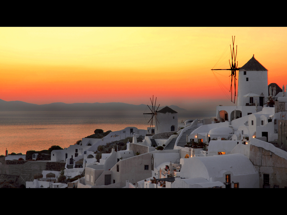 Santorini sunset by MarcelGermain