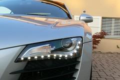 Audi R8 : optiques avant