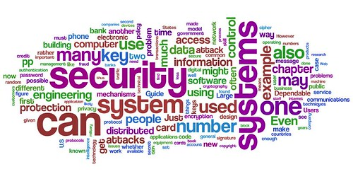 Information Security wordle: Ross Anderson's Security Engineering