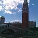 The Campanile di San Marco outside The Venetian Hotel