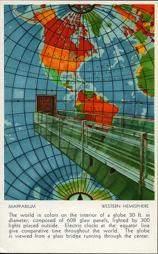 postcard - Mapparium, Boston