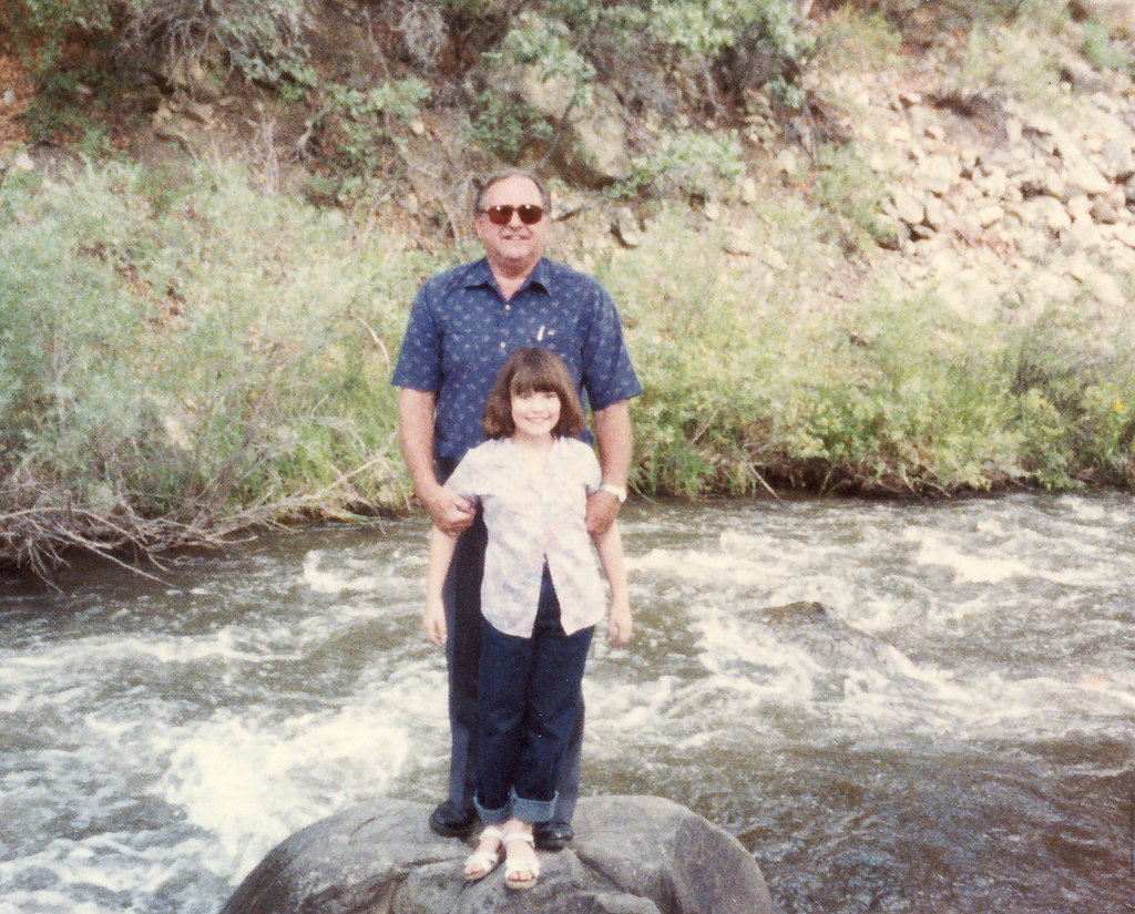 Grandpa and Aimee @ Turner Falls - Oklahoma