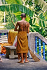 Ayutthaya   Tailandia Un monje tatuado