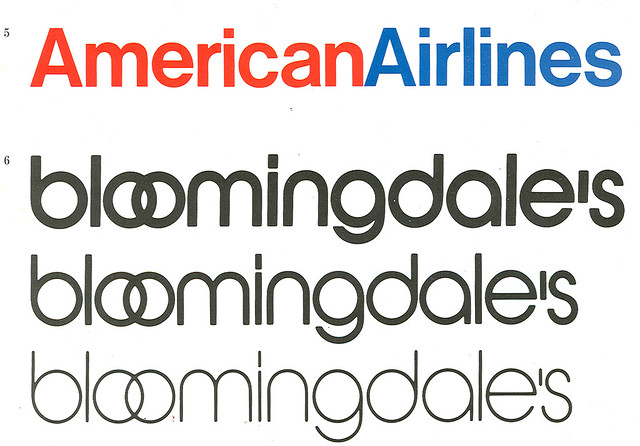 Massimo Vignelli American Airlines, Bloomingdales ...