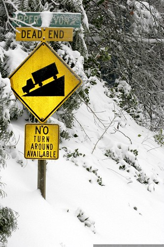 our street sign, up to its neck in snow – _MG_4141