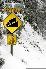 our street sign, up to its neck in snow    MG 4141