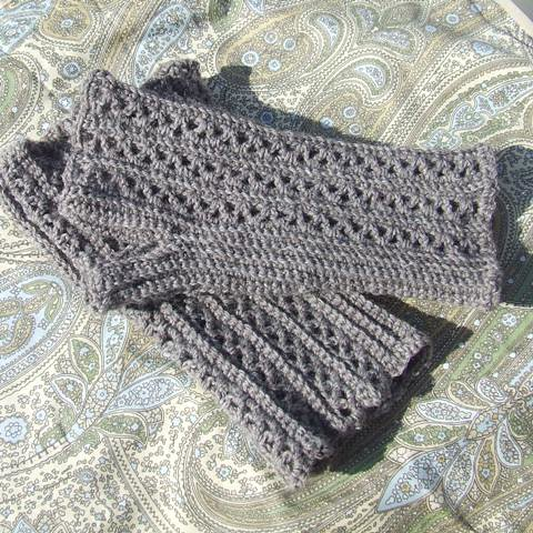 Lacy Fingerless Gloves - Crochet Me