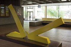 'Yellow Forms' by John Burke in the corridor of the Newman Building.