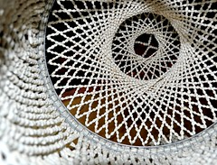 mosaic(0.0), symmetry(0.0), circle(0.0), flooring(0.0), art(1.0), pattern(1.0), textile(1.0), doily(1.0), line(1.0), design(1.0), crochet(1.0),