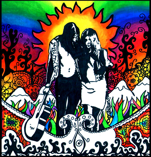 hippies couple
