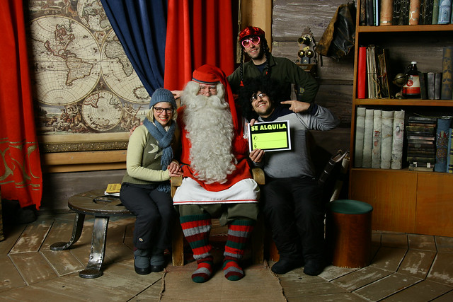 A photo with Santa Claus in Rovaniemi
