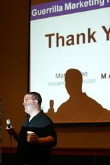 matt mcgee wraps up his talk on small business SEM  …