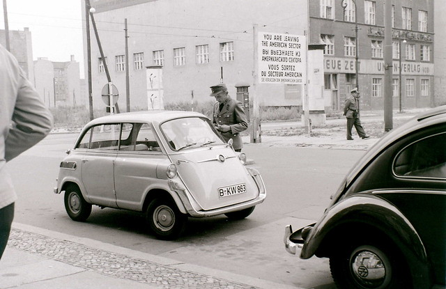 Friedrichstrasse sector border (Later Checkpoint Charlie), Berlin, c. 31 July 1960
