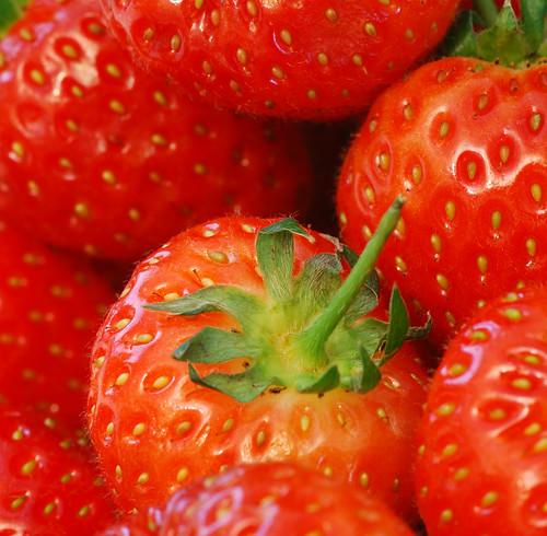 Strawberrys Close up