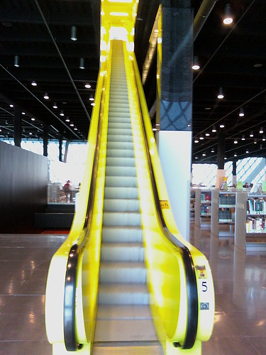 Yellow escalator