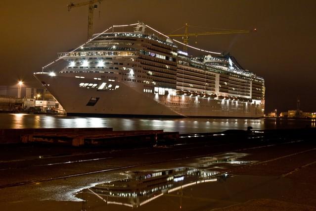 MSC Fantasia Cruise Ship By Night  Flickr  Photo Sharing