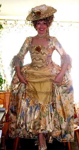 Goldfarbene Robe Brocade