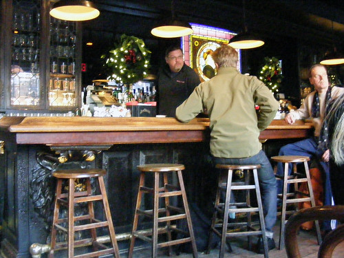 Broome Street Bar interior at Christmas