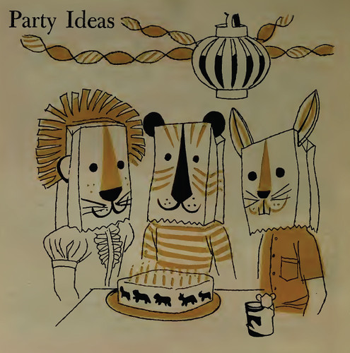 """Party Ideas"" from 1957 Betty Crocker Cookbook for boys and girls"