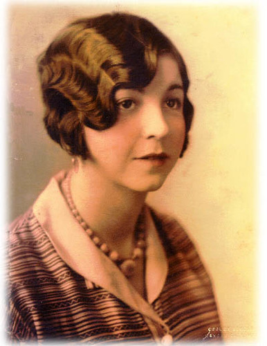 Woman with finger wave, 1920's