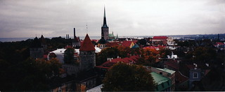 The Old City in Central Tallinn, Estonia