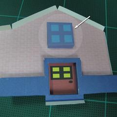 วิธีทำโมเดลกระดาษเป็นรูปบ้าน (Little House Papercraft Model) 008