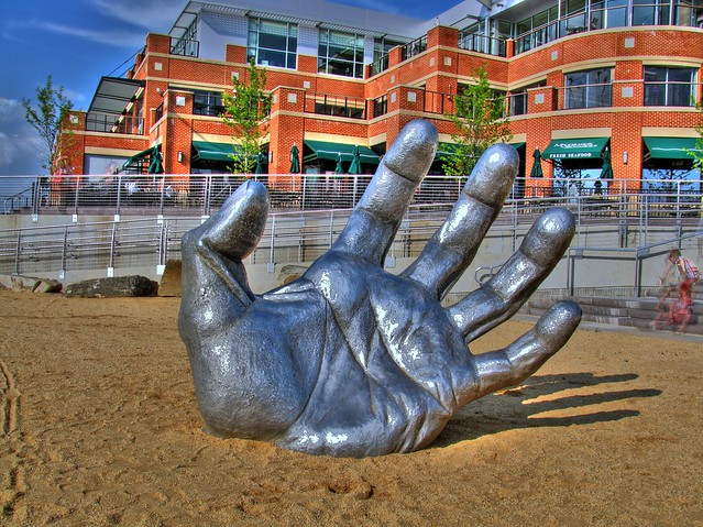 Hand at the national harbor flickr photo sharing for Awakening sculpture national harbor