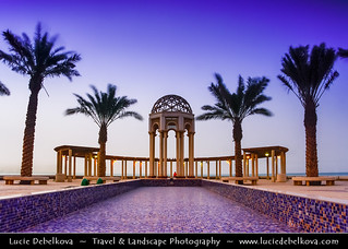 Kuwait - Islamic architecture at Salmyia after Sunset