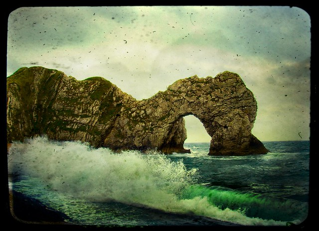 wild and windy durdle door