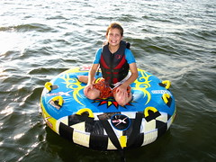 dinghy(0.0), vehicle(0.0), boating(0.0), inflatable boat(0.0), boat(0.0), tubing(1.0), inflatable(1.0),