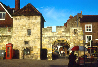 Изображение Bootham Bar. york england wall gate 1987 yorkshire citywall