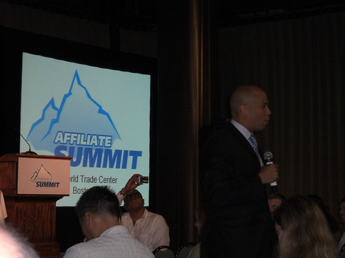 Cory Booker at Affiliate Summit East 2008