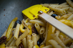vegetable(0.0), plant(0.0), produce(0.0), yellow(1.0), vegetarian food(1.0), pasta(1.0), penne(1.0), food(1.0), dish(1.0), cuisine(1.0),