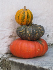 Pumpkins on a Doorstep