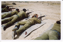 Female IDF Soldier Shooting Practice