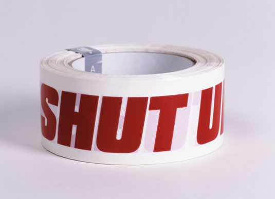Shut Up tape, design: ATYPYK