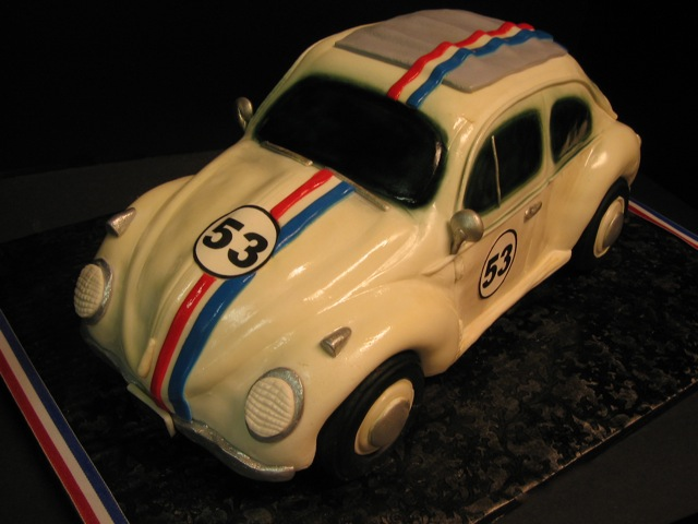 Herbie The Love bug car cake