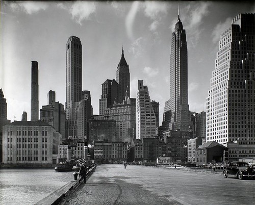 Manhattan Skyline: I. South Street and Jones Lane, Manhattan...