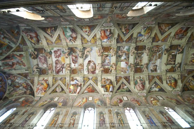 plafond de la chapelle sixtine flickr photo