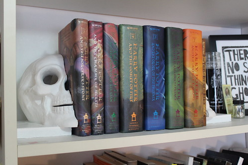 Skull Book Ends & Harry Potter
