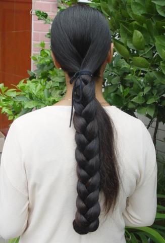 Silky Black Long Hair Pic