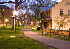Berea College Campus This Was Taken At Night With The Aper Flickr