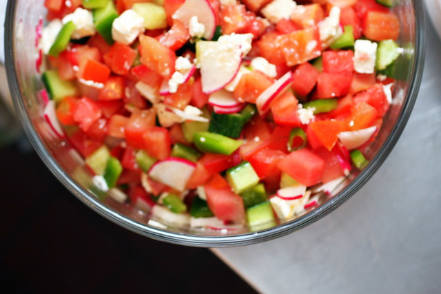 chopped salad with watermelon and feta | Flickr - Photo Sharing!