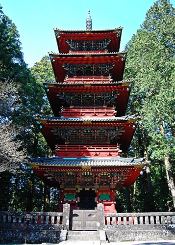 「日光 Spring 08」 Five Storied Pagoda - 無料写真検索fotoq