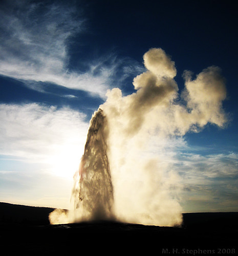 Old Faithful Sunset