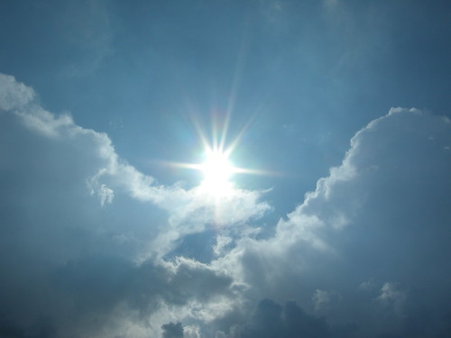 Soleil dans les nuages