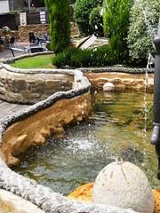 Detalle de una Fuente en el Restaurante Untzigain